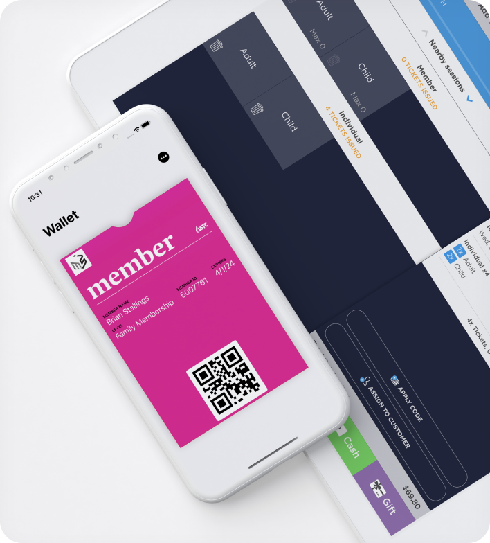 Ticketure Point of Sale UI and Apple Wallet Ticket Pass